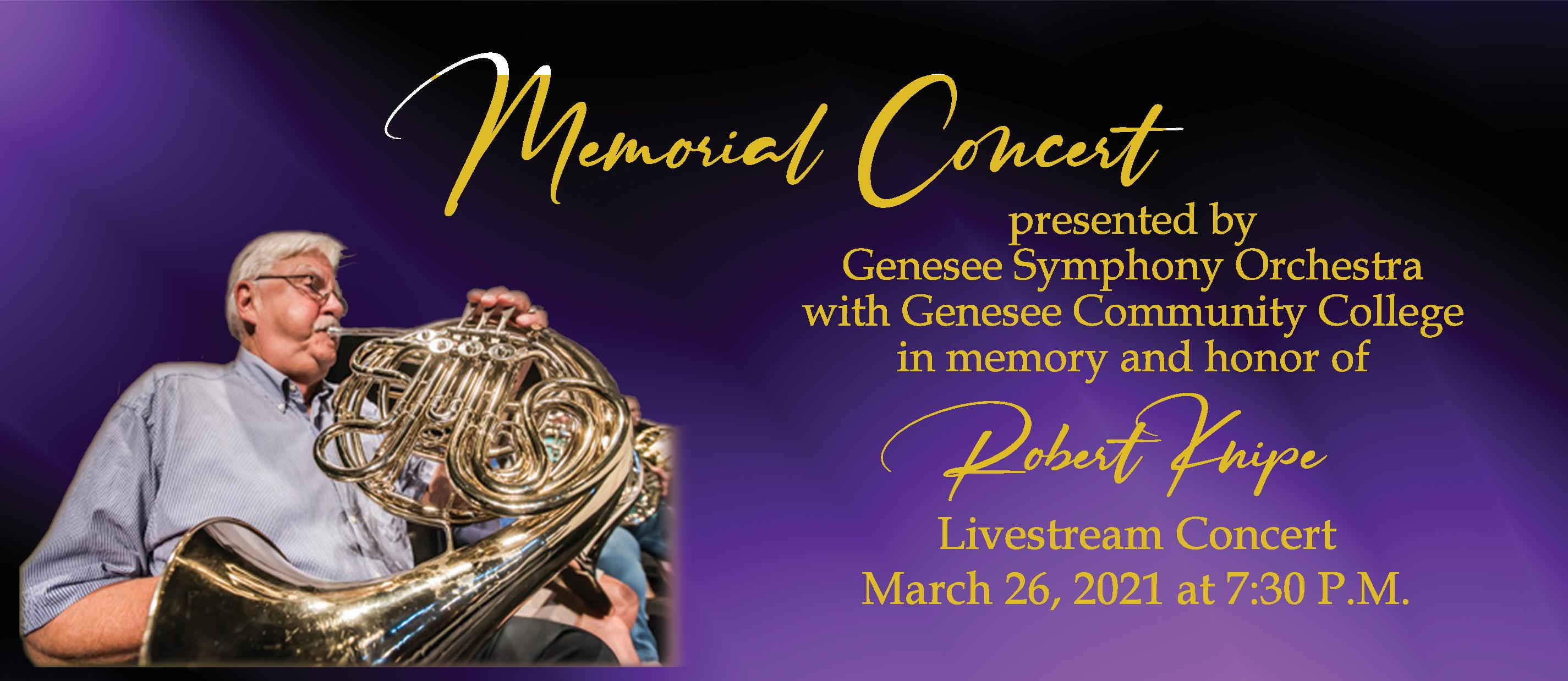 Bob Knipe Memorial concert page 1 of 2